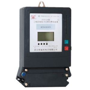 Три фазы 5 и 6 ЦИФР ЖК-строчный дисплей предоплата электронный счетчик электроэнергии