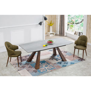 Extensão Cymbate portátil de cerâmica de mesa de jantar em madeira