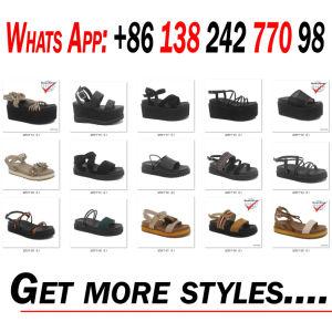 Confort de la mode pour femmes chaussures sandales de PU plat chaussures haut de filtre en coin