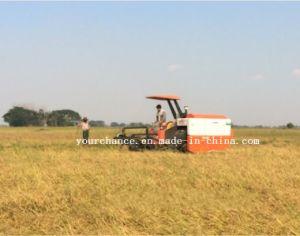 L'Afrique Vente chaude 4LZ-4.0 moissonneuse-batteuse de blé de riz