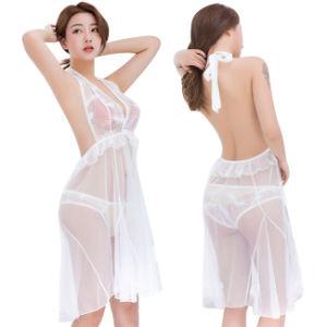 En mousseline de femmes Kimonos lingerie sexy nuisette maille Robe florale Nightwear