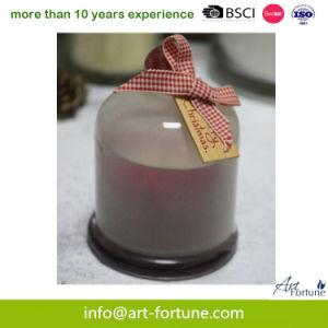 De Kaars van de Glazen kap van het Glas van de geur met de Nevel van de Kleur voor Kerstmis