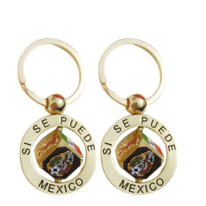 Fabrik-Preis-Großverkauf-kundenspezifischer Goldmexiko-Spinner-Schlüsselring als Andenken-Geschenke (016)