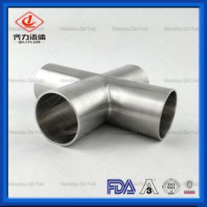Conexão do Tubo de Aço Inoxidável Braçadeira Triplo/Soldadura Cruz sanitárias