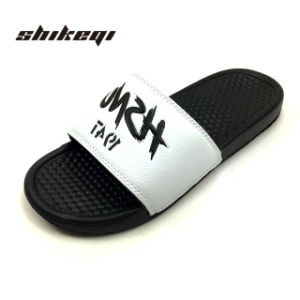 2018 Shikeqi горячая продажа мужчин слайды сандалии опорной части юбки поршня и опорной части юбки поршня из ПВХ логотип, сдвиньте благоухающем курорте