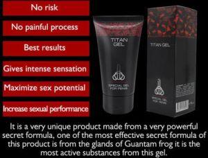 Titan original Gel Gel spécial pour les hommes de la taille de la crème de retard de pénis