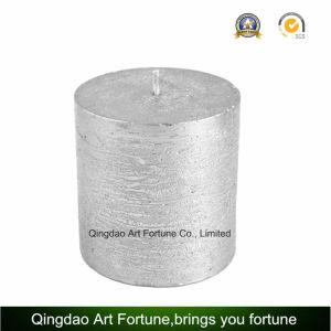 Metallische Ende-Silber-Pfosten-Kerze für Hauptdekoration