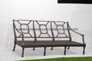 Fundición de aluminio Muebles, muebles de exterior a tres personas sofá