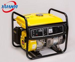 2kw a 100% de cobre buena alimentación pequeño generador de gasolina con silenciador moto