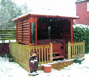 Gazebo esterno della vasca calda del Gazebo dei 2015 giardini (SR891)