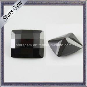 低価格の黒の長方形のレジ係によって切られる立方ジルコニアの宝石用原石