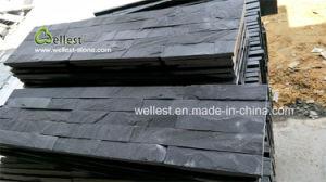 Ardoise noire Ledgestone pour panneau mural carreaux, de décoration de façade