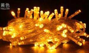 Una serie dei 10 tester di indicatore luminoso leggiadramente alimentato solare dei 100 LED