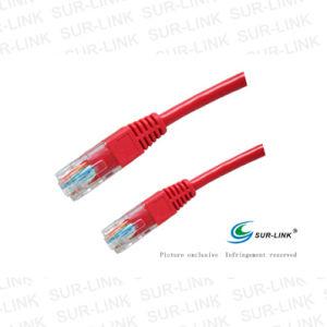 Cable UTP Cat. 5e rojo el color normal de arranque de moldeado de 1m