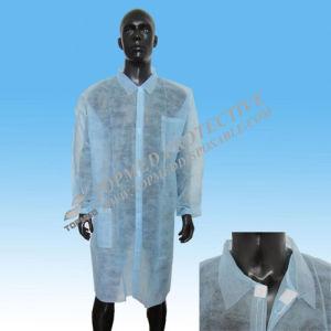 Bata de laboratório de PP não tecido descartáveis roupas médica, poeira fina