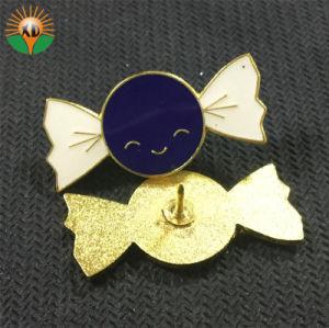 ロゴプリンターとの記念品の金属の金ぱくの折りえりPin