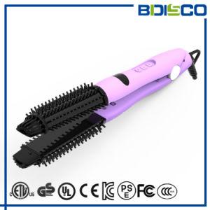 2 En1 tanto multifuncional Straighting Cepillo de herramientas de peinado rizar el cabello