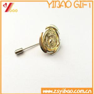 공급자 긴 바늘 (YB-SM-15)를 가진 주문 금속 상징 접어젖힌 옷깃 Pin