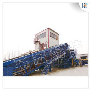 Ferraglia residua idraulica che tagliuzza le righe che riciclano la trinciatrice del frantoio