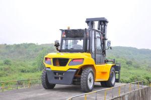 Grote Op zwaar werk berekende Diesel van het Instelmechanisme van de Cabine Vorkheftruck met Rops (8000kg-10000kg)
