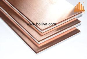 Piscina exterior do painel de fachada cobre decorativas