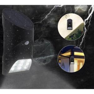 9つのLEDの太陽エネルギーのタケ動きセンサーライトWateproofのヤードの壁ランプIP65は屋外の庭ランプを防水する