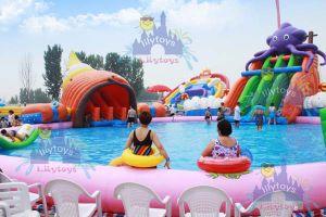 Nuevo parque acuático de flotación inflable, utiliza el equipo de Water Park, parque acuático inflables para adultos