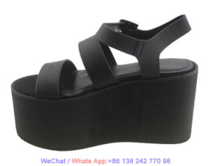Fashion Mesdames Rome haut talon chaussures sandales de sangle de cheville de plate-forme