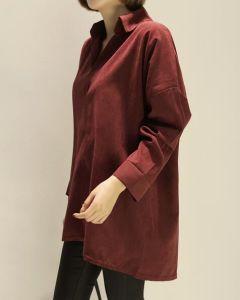 卸し売り毎日女性偶然の純粋なカラーワイシャツの服装のワイシャツ