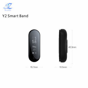 Y2 plus de Slimme Armband van de Geschiktheid van de Monitor van het Tarief van het Hart van de Bloeddruk van het Horloge