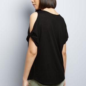 여자의 옷 여름 검정은 t-셔츠를 냉대한다