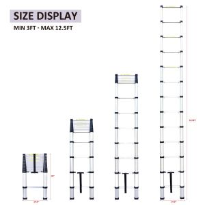 Novo Design em alumínio com Altura Ajustável escada pode3-Z11-M81 Padrão Fechar Super escada telescópica