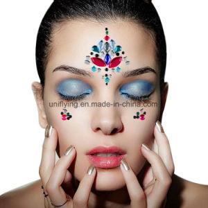 2018 Tatuagem Temporária Personalizada de Fábrica de Cristal vinheta autocolante Gem para festival de rosto