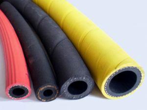 China trançado com tecido de alta pressão do tubo de borracha de ar de borracha flexível