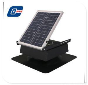 9in Aluminium-Ventilatorflügel-Stahlangeschaltener Dachboden-Solarventilator
