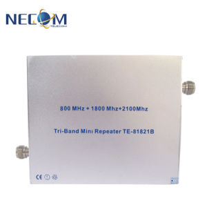 GSM/3G de dubbele Repeaters van de Telefoon van de Cel Verizon van het Signaal van de Band Hulp is Bedoeld om het Signaal van 850MHz/2100MHz te versterken. De mobiele Repeater van het Signaal van de Telefoon