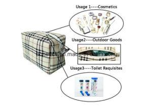 Joli sac de maquillage Fashion Plaid Voyage Sac de Toilette Ripstop pochette cosmétique