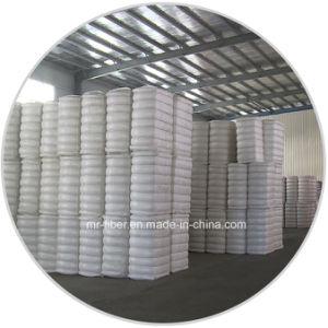 Cotone-come la fibra di graffetta di poliestere riciclata bianca eccellente di 1.4D*38mm