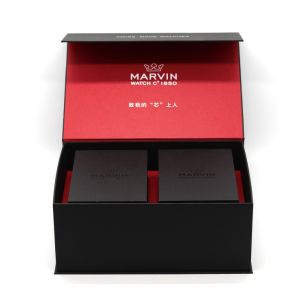 Hot Stamping artesanales de alta calidad ver Papel de Embalaje Caja de regalo