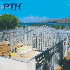 중국은 모듈 건물로 가벼운 강철 별장 집을 조립식으로 만들었다