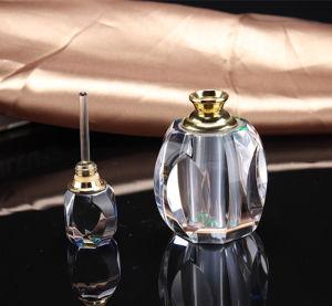 Cristal transparente de frascos de perfume (KS24056)