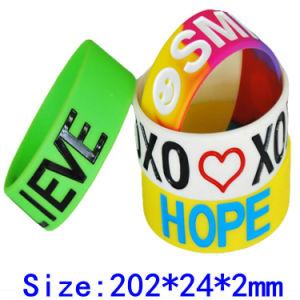 Pulsera de silicona fabricante diseñe su propio logo Personalizados baratos pulsera de silicona pulseras de la banda de caucho