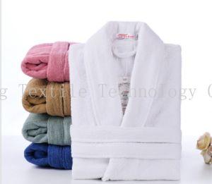 Accappatoio unisex di lusso personalizzato dell'hotel del Terry della STAZIONE TERMALE del velluto di cotone del collare dello scialle