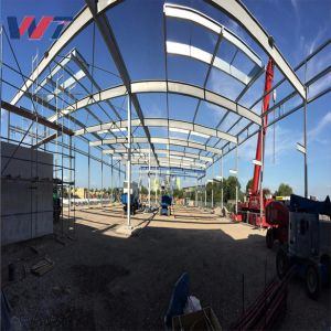 Multi Span Heavy Metal construcción prefabricados de estructura de acero para la granja Taller /H de la fábrica de almacén haz de bastidor de acero de la casa