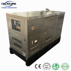 22kVA Cummins Powered grupo electrógeno diesel silenciosa de acero inoxidable altamente personalizado