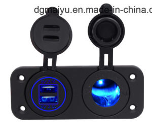 12 В ДВА разъема автомобильного прикуривателя вольтметр с цифровым дисплеем