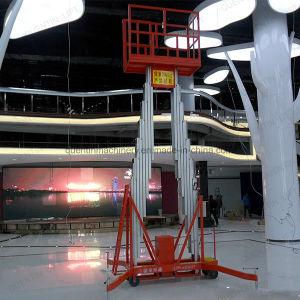 Piattaforma di sollevamento materiale di alluminio del doppio albero