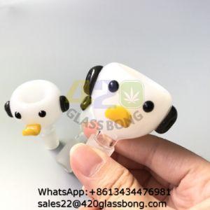 Dibujos animados de animales pato Recipientes de cristal de vidrio tubos de agua fumar