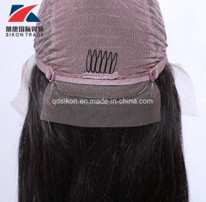 Cheveux humains chinois couleur naturelle perruque de cheveux raides dentelle avant