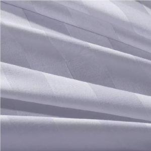 Coperchio bianco di lusso della trapunta 200tc della banda 3cm del rifornimento della fabbrica (JRD138)